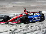 Graham Rahal (38) driver of the Service Central car in action during qualifying for the IZOD Indycar Firestone 550 race at Texas Motor Speedway in Fort Worth,Texas. IZOD Indycar driver Alex Tagliani (98) driver of the Team Barracuda-BHA car qualifies in the top spot during the Firestone 550 race..