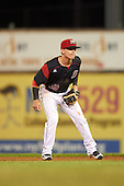 Batavia Muckdogs second baseman Sutton Whiting (49) during a game against the Williamsport Crosscutters on September 2, 2016 at Dwyer Stadium in Batavia, New York.  Williamsport defeated Batavia 9-1. (Mike Janes/Four Seam Images)