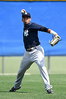 New York Yankees Frank Frias (20) during practice before a minor league spring training game against the Toronto Blue Jays on March 24, 2015 at the Englebert Complex in Dunedin, Florida.  (Mike Janes/Four Seam Images)