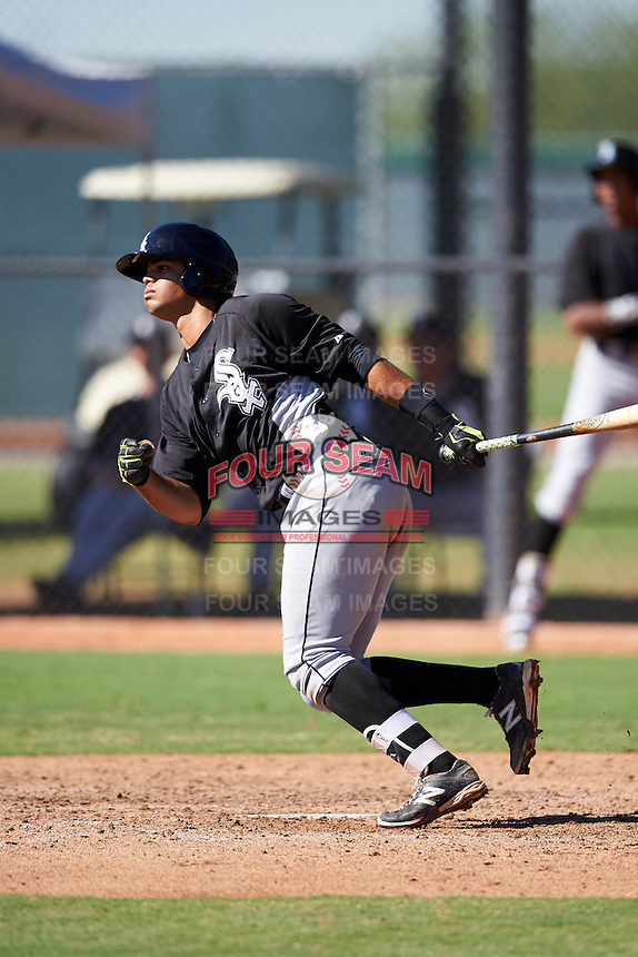 Chicago White Sox Amado Nunez (5) during an Instructional League game against the Los Angeles Dodgers on October 15, 2016 at the Camelback Ranch Complex in Glendale, Arizona.  (Mike Janes/Four Seam Images)