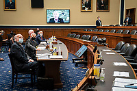 Robert Redfield, director of the Centers for Disease Control and Prevention (CDC), and Anthony Fauci, director of the National Institute of Allergy and Infectious Diseases, and other health officials testify before the House Energy and Commerce Committee in Washington, D.C., U.S., on Tuesday, June 23, 2020. Trump administration health officials will tell lawmakers that their agencies are preparing for a flu season that will be complicated by the coronavirus pandemic. <br /> Credit: Sarah Silbiger / Pool via CNP/AdMedia