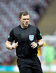 Motherwell v St Johnstone…20.02.21   Fir Park   SPFL<br />Referee John Beaton<br />Picture by Graeme Hart.<br />Copyright Perthshire Picture Agency<br />Tel: 01738 623350  Mobile: 07990 594431