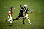 Carlos Vela of Los Angeles FC (USA) and Luis Fuentes Club America (MEX) fight for the ball during their CONCACAF Champions League Semi Finals match at the Orlando's Exploria Stadium on 19 December 2020, in Florida, USA. Photo by Victor Fraile / Power Sport Images