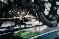 golden chain on Mark Cavendish' (GBR/Dimension Data) bike<br /> <br /> Stage 1: Noirmoutier-en-l'Île > Fontenay-le-Comte (189km)<br /> <br /> Le Grand Départ 2018<br /> 105th Tour de France 2018<br /> ©kramon