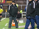 Forfar Athletic v St Johnstone....08.02.14   Scottish Cup 5th Round<br /> Forfar boss Dick Campbell<br /> Picture by Graeme Hart.<br /> Copyright Perthshire Picture Agency<br /> Tel: 01738 623350  Mobile: 07990 594431