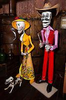 Catrina Figures, Tequila Museum, Playa del Carmen, Riviera Maya, Yucatan, Mexico.