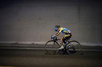 tunnel action by Makhabbat Umutzhanova (KAZ/Astana)<br /> <br /> Women Elite Road Race<br /> <br /> UCI 2017 Road World Championships - Bergen/Norway