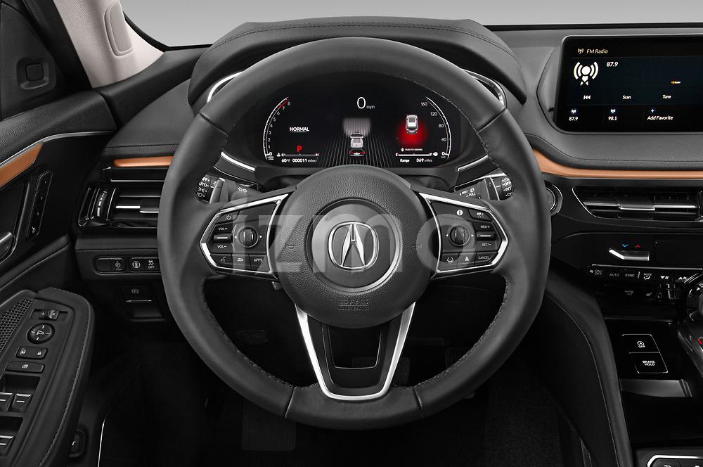 Car pictures of steering wheel view of a 2022 Acura MDX - 5 Door SUV Steering Wheel