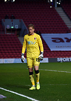 4th May 2021; The Valley, London, England; English Football League One Football, Charlton Athletic versus Lincoln City; Ben Amos looks frustrated  after conceding a late Lincoln goal for 3-1 in minute 88
