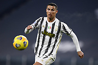 3rd January 2021, Allianz Stadium, Turin Piedmont, Italy; Serie A Football, Juventus versus Udinese;  Cristiano Ronaldo chases down a through ball