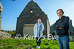 Deirdre Ferris and Donal Stack at the 12th century church on the grounds of Ardfert cathedral on Saturday.