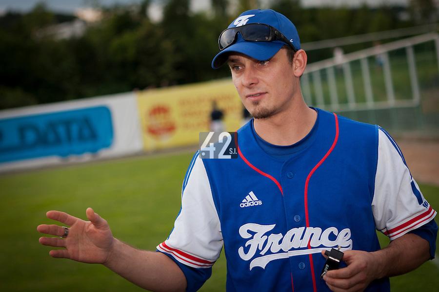 22 June 2011: Paul Mildren is seen after AIST Alumni 5-3 win over France, at the 2011 Prague Baseball Week, in Prague, Czech Republic.