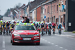 The start of the 2021 Flèche-Wallonne, running 193.6km from Charleroi to Huy, Belgium. 21st April 2021.  <br /> Picture: A.S.O./Aurélien Vialatte | Cyclefile<br /> <br /> All photos usage must carry mandatory copyright credit (© Cyclefile | A.S.O./Aurélien Vialatte)