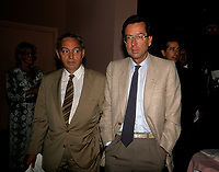 John Ciaccia et Robert Bourassa<br /> (PLQ)  entre 1985 et 1995<br /> <br /> PHOTO :  Pierre Roussel<br />  - Agence Quebec Presse