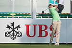 Nathan Kimsey of England tees off the first hole during the 58th UBS Hong Kong Golf Open as part of the European Tour on 08 December 2016, at the Hong Kong Golf Club, Fanling, Hong Kong, China. Photo by Marcio Rodrigo Machado / Power Sport Images