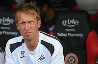 Swansea City manager Graham Potter during the Sky Bet Championship match between Sheffield United and Swansea City at Bramall Lane, Sheffield, England, UK. Saturday 04 August 2018