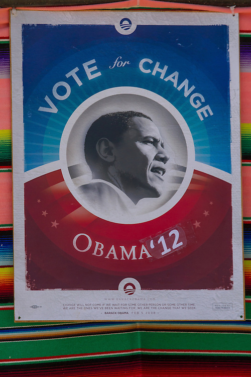 Crow Fair Parade truck decorated for Pres. Obama