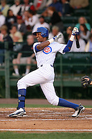 April 16, 2009:  Shortstop Starlin Castro of the Daytona Cubs, Florida State League Class-A affiliate of the Chicago Cubs, during a game at Jackie Robinson Stadium in Daytona Beach, FL.  Photo by:  Mike Janes/Four Seam Images