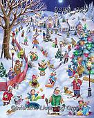 Randy, CHRISTMAS CHILDREN, WEIHNACHTEN KINDER, NAVIDAD NIÑOS, paintings+++++Ski-Adventure-RW-sm,USRW329,#xk#