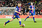 Jordi Alba of FC Barcelona (L) runs with the ball during the La Liga 2017-18 match between FC Barcelona and Deportivo La Coruna at Camp Nou Stadium on 17 December 2017 in Barcelona, Spain. Photo by Vicens Gimenez / Power Sport Images