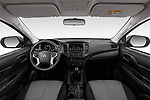 Stock photo of straight dashboard view of 2020 Mitsubishi L200 Invite 4 Door Pick-up Dashboard