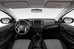 Stock photo of straight dashboard view of 2020 Mitsubishi L200 Invite 4 Door Pick-up Dashboard