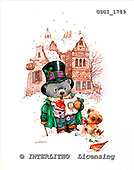 GIORDANO, CHRISTMAS ANIMALS, WEIHNACHTEN TIERE, NAVIDAD ANIMALES, Teddies, paintings+++++,USGI1789,#XA#