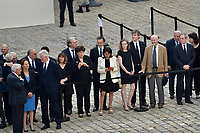 the Invalides after a tribute ceremony to French politician and Holocaust survivor Simone Veil in the courtyard of the Invalides in Paris, on July 5, 2017. French Holocaust survivor and rights icon Simone Veil, who died last week at the age of 89, will be given the rare honour of a burial in the Pantheon, President Emmanuel Macron announced at her funeral Wednesday.<br /> # CEREMONIE D'HOMMAGE A SIMONE VEIL AUX INVALIDES