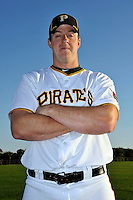 Feb 28, 2010; Bradenton, FL, USA; Pittsburgh Pirates  catcher Erik Kratz (67) during  photoday at Pirate City. Mandatory Credit: Tomasso De Rosa/ Four Seam Images