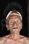 The Konyak tribe near Mon in Nagaland used to practice head hunting up until
