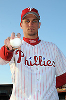 Feb 20, 2009; Clearwater, FL, USA; The Philadelphia Phillies pitcher Robert Mosebach (48) during photoday at Bright House Field. Mandatory Credit: Tomasso De Rosa/ Four Seam Images