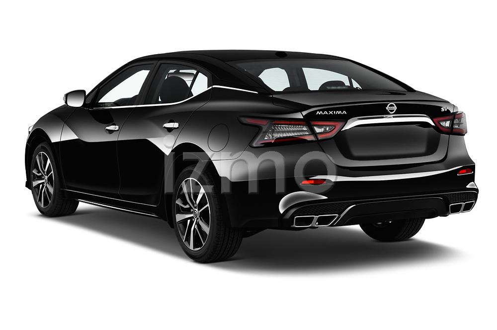 Car pictures of rear three quarter view of 2020 Nissan Maxima SV 4 Door Sedan Angular Rear