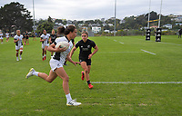 Action from the 2021 Takiwhitu Tuturu Sevens tournament match between Black Ferns White and Black Ferns Black at Hataitai Park in Wellington, New Zealand on Friday, 9 April 2021. Photo: Dave Lintott / lintottphoto.co.nz