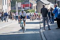 Alexey Lutsenko (KAZ/Astana - Premier Tech)<br /> <br /> 107th Liège-Bastogne-Liège 2021 (1.UWT)<br /> 1 day race from Liège to Liège (259km)<br /> <br /> ©kramon
