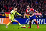 Jordi Alba of FC Barcelona (L) in action against Jorge Koke of Atletico de Madrid (R) during the La Liga 2018-19 match between Atletico Madrid and FC Barcelona at Wanda Metropolitano on November 24 2018 in Madrid, Spain. Photo by Diego Souto / Power Sport Images