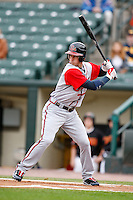 June 3, 2009:  Center Fielder Jordan Schafer of the Gwinnett Braves at bat during a game at Frontier Field in Rochester, NY.  The Gwinnett Braves are the International League Triple-A affiliate of the Atlanta Braves.  Photo by:  Mike Janes/Four Seam Images