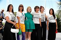 "CANNES, FRANCE - JULY 14: Katia Kazakova, Director Vesela Kazakova, Maria Bakalova, Director Mina Mileva, Bilyana Kazakova and Ralitsa Stoyanova at the ""Women Do Cry"" photocall during the 74th annual Cannes Film Festival on July 14, 2021 in Cannes, France. <br /> CAP/GOL<br /> ©GOL/Capital Pictures"