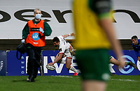 Friday 23rd April 2021; Billy Burns scores during the first round of the Guinness PRO14 Rainbow Cup between Ulster Rugby and Connacht Rugby at Kingspan Stadium, Ravenhill Park, Belfast, Northern Ireland. Photo by John Dickson/Dicksondigital