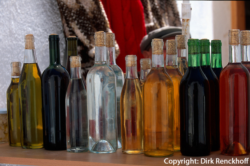 Weinverkauf, Insel Santorin (Santorini), Griechenland, Europa