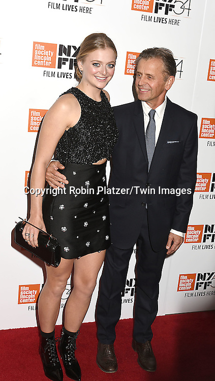 """actress Anna Baryshnikov and  her father Mikhail Baryshnikov attend the """"Manchester by the Sea"""" Screening at the New York Film Festival on October 1, 2016 at Alice Tylly Hall in Lincoln Center in New York, New York, USA.<br /> <br /> photo by Robin Platzer/Twin Images<br />  <br /> phone number 212-935-0770"""