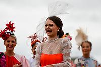 10th November 2020; Christchurch, New Zealand;  Laura Campbell wins the Best Dressed Women during the NZ Trotting Cup at Addington Raceway, Christchurch, New Zealand