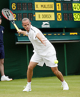 26-6-06,England, London, Wimbledon, first round match, Malisse