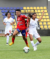 PASTO - COLOMBIA, 17-10-2020: Deportivo Pasto y America de Cali durante partido por la fecha 1 de la Liga Femenina BetPlay DIMAYOR 2020 jugado en el estadio Departamental Libertad en la ciudad de Pasto. / Deportivo Pasto and America de Cali during a match for the 1st date of the Women's League BetPlay DIMAYOR 2020 played at the Departamental Libertad stadium in Pasto city. / Photo: VizzorImage / Leonardo Castro / Cont.