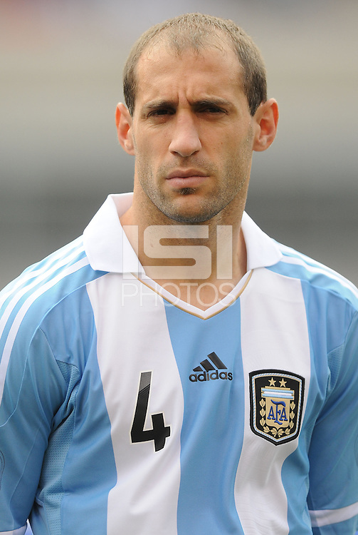 Argentina defender Pablo Zabaleta (4) The Argentina National Team defeated Brazil 4-3 at MetLife Stadium, Saturday July 9 , 2012.