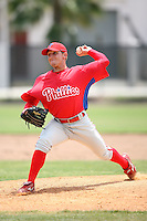 April 10, 2009:  Pitcher David Noles of the Philadelphia Phillies extended spring training team during an intrasquad scrimmage at Carpenter Complex in Clearwater, FL.  Photo by:  Mike Janes/Four Seam Images