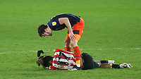 Ivan Toney of Brentford and Luton's Tom Lockyer were involved in an altercation towards the end of the match which resulted in both players being sent off during Brentford vs Luton Town, Sky Bet EFL Championship Football at the Brentford Community Stadium on 20th January 2021