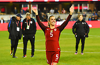 San Jose, CA - Sunday November 12, 2017: Kelley O'Hara during an International friendly match between the Women's National teams of the United States (USA) and Canada (CAN) at Avaya Stadium.