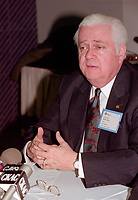Montreal (qc) CANADA - file Photo - 1992 - <br /> Union des Municipalites du Quebec convention in April -<br /> Ralph Mercier, UMQ President and Mayor of Charlesbourg