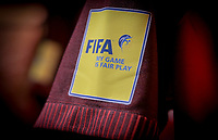 Orlando, FL - Friday Oct. 06, 2017: FIFA Fair Play during a 2018 FIFA World Cup Qualifier between the men's national teams of the United States (USA) and Panama (PAN) at Orlando City Stadium.