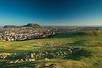 Edinburgh, Arthur's Seat and Salisbury Crags from Blackford Hill, Edinburgh